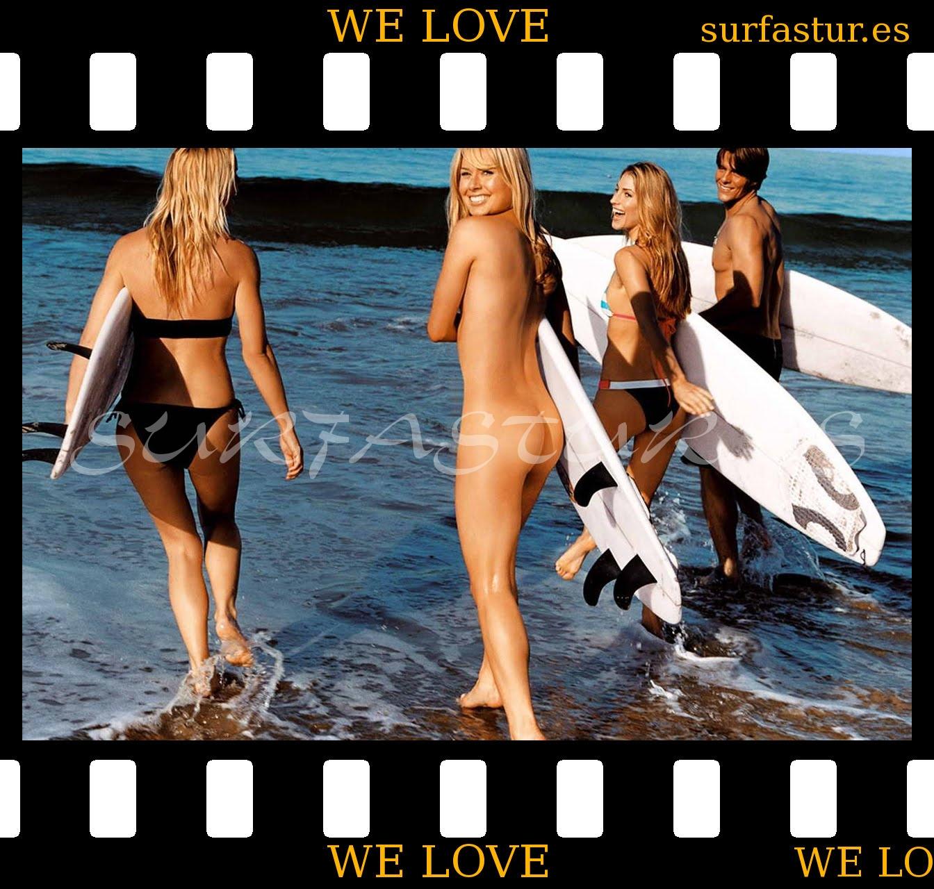 Голые девушки на серфе фото